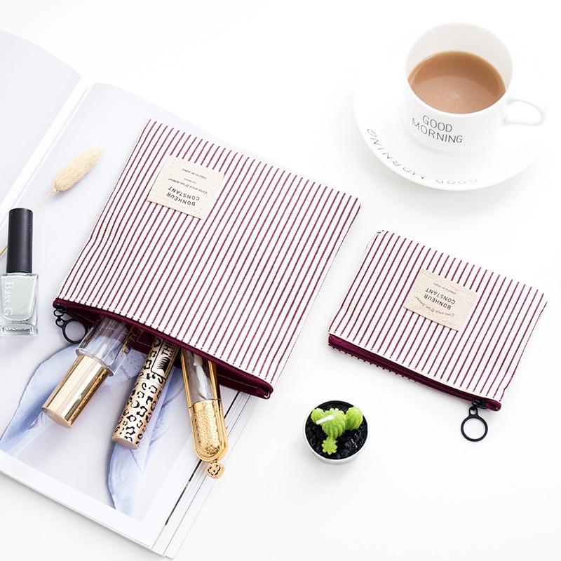 Fashion Travel Cosmetic Bag Organizer Women Zipper Makeup Bag Female Small Necessity Beauty Handbag Purse Pencil Make Up Bags