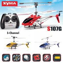 SYMA S107G 3CH RC Helicóptero Radio Control Remoto Original Mini Resistente A la Caída de Helicóptero Giroscopio de Aviones Drone Juguetes Del Tirón de 360 Grados #