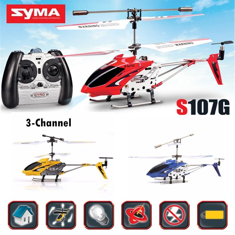 SYMA S107G оригинальный вертолет дистанционного Радио Управление Мини светодиодный Drone падения Устойчив самолеты гироскопа Вертолет Игрушечные лошадки 360 градусов флип