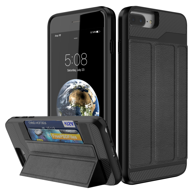 For Funda iPhone 8Plus Case Coque iPhone 8 7 Case iPhone7 7 Plus cover Card Slot Car Holder Cases for Apple Etui iPhone 7Plus