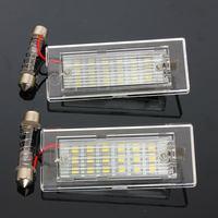 2Pcs License Plate Light For BMW X5 E53 X3 E83 2003 2010 18 LED Bulbs Car