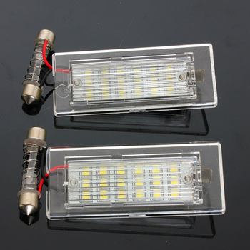 2Pcs License Plate Light For BMW X5 E53 X3 E83 2003-2010 18 LED Bulbs Car Number Plate Lamp Car Styling Light Source image