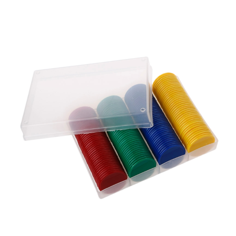 160 Pcs/set Plastic Blank Bingo Chips Markers For Bingo Game Counters Games Education Tools