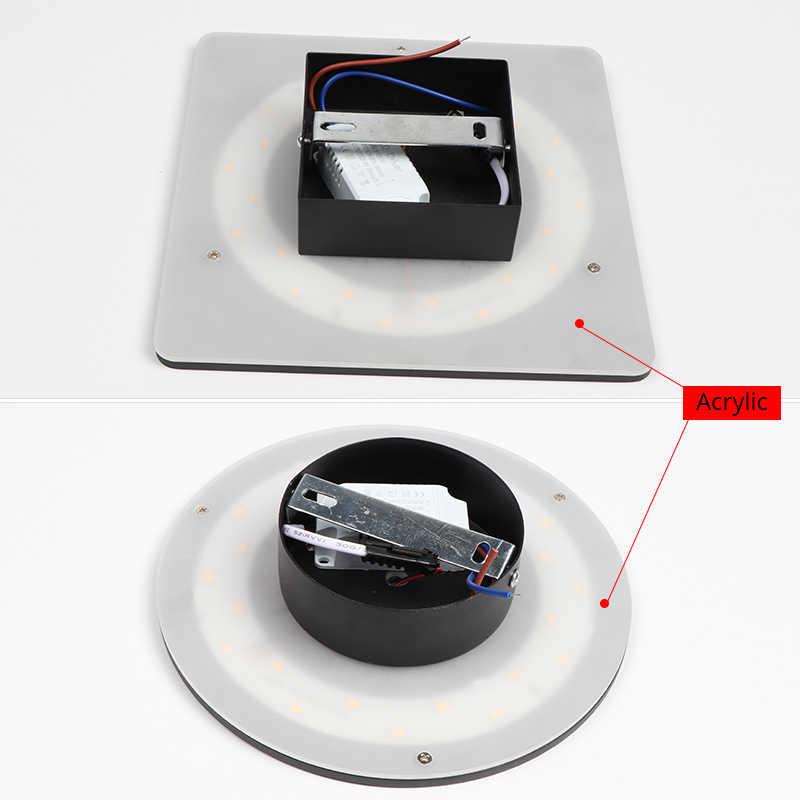 Светодиодный настенный светильник для дома, украшение для гостиной, настенный светильник, светильник для дома, лофт, лестничный светильник, Круглый/квадратный алюминиевый AC90-260V