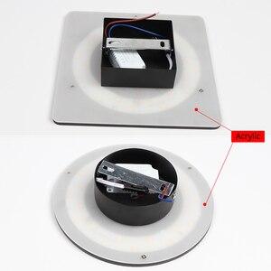 Image 5 - داخلي وحدة إضاءة LED جداريّة مصباح غرفة المعيشة الديكور الجدار ضوء المنزل تركيبة إضاءة Loft أضواء لدرجات السلم مستديرة/مربع الألومنيوم AC90 260V