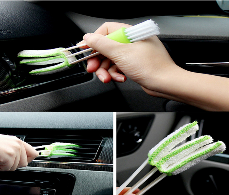 Auto Air Conditioner Vent Slit Cleaner Brush Car Styling For Nissan Teana X-Trail Infiniti Kia Rio K2 K3 K5 K4 Accessories