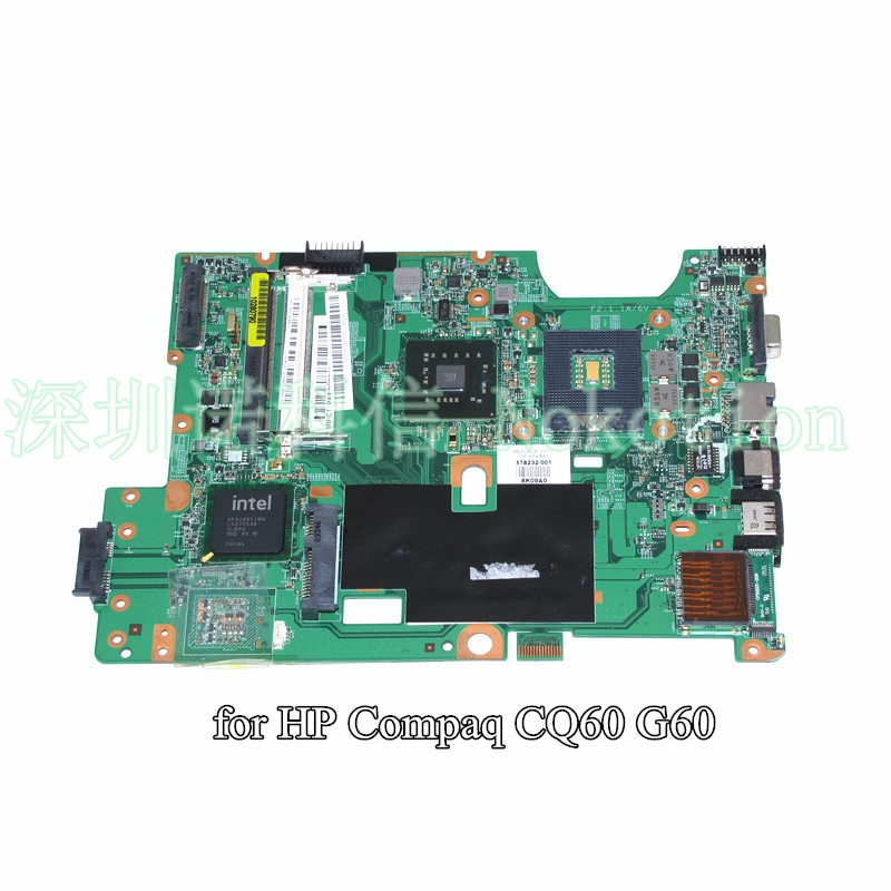 48.4FQ01.011 578232-001 laptop motherboard For HP Compaq CQ60 G60 GL40 DDR2 mainboard Warranty 60 days laptop palmrest for acer as5940 5940g 5942 5942g 60 pfq02 001 ap09z000400