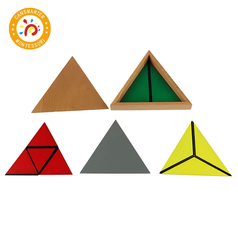 Baby Toy Montessori Materials Wooden Toys Constituting a Triangle Home School Box Geometric Toy Games Jigsaw puzzle - 6