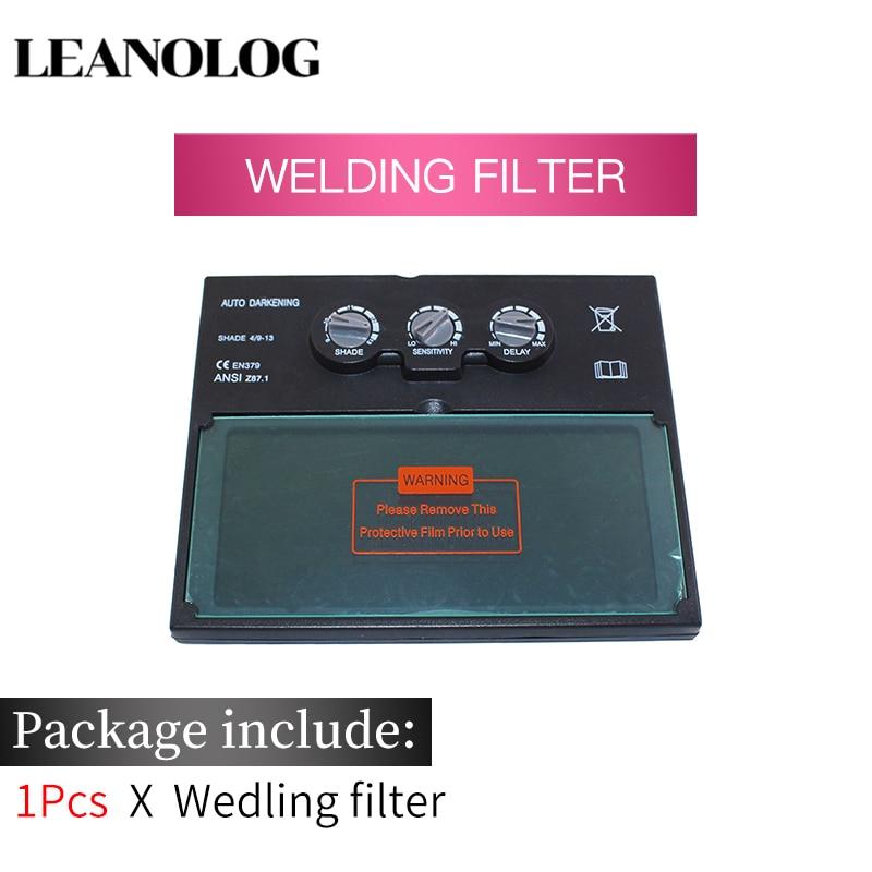 LI батарея Солнечная Авто Затемнение/затенение сварочный фильтр объектив для сварочной маски и сварочного шлема - Цвет: Welding Filter