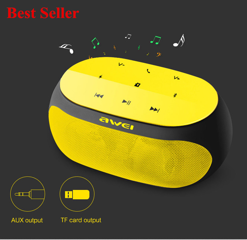 Subwoofer Bluetooth Speaker Stereo Wireless Portable Mini Speakers Support TF card AUX input with Microphone Awei Y200 Sound Box ...