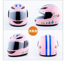 Pink yellow black average size new style High quality cartoon kids motorcycle helmet child casco