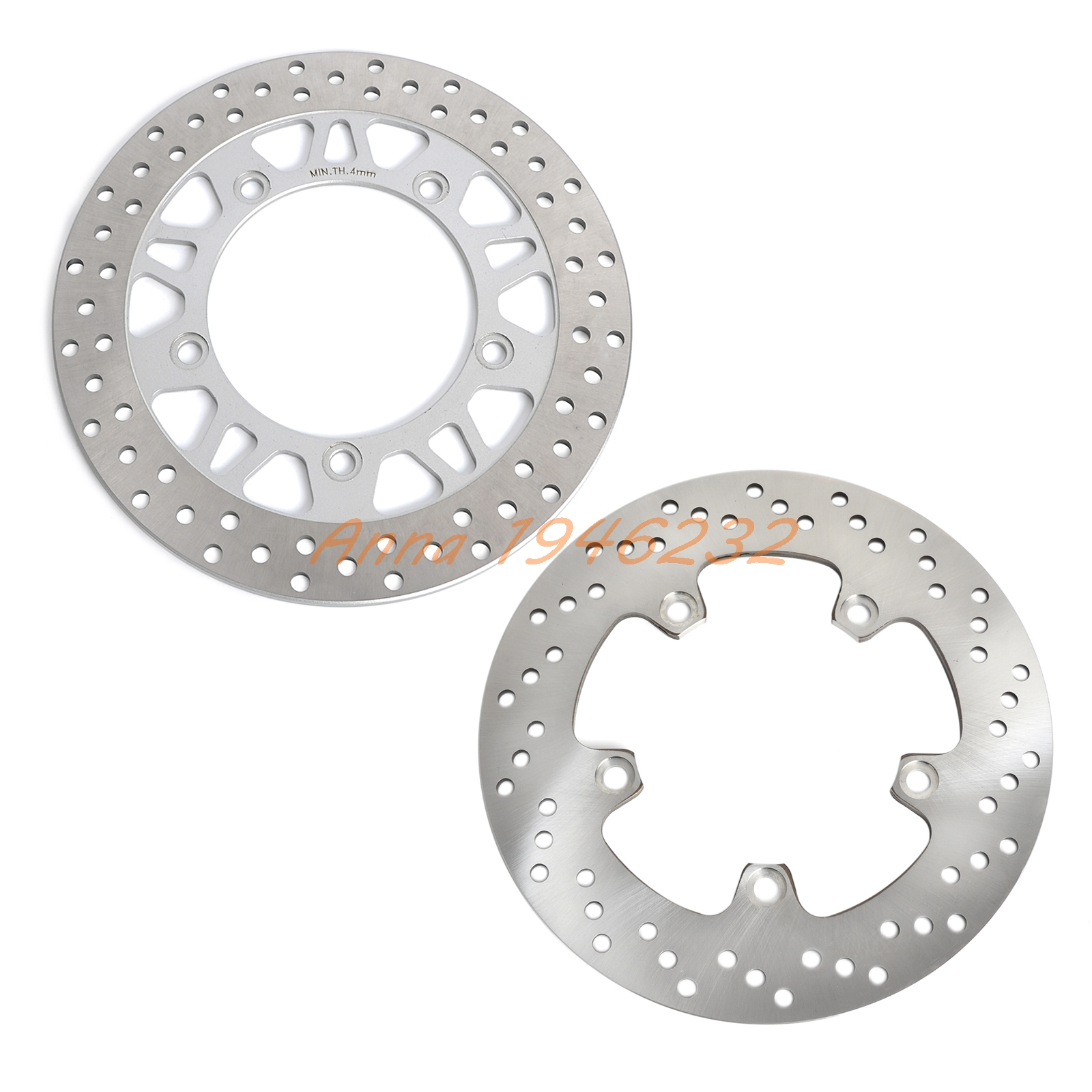 New Motorcycle Front & Rear Brake Disc Rotor For Suzuki AN650 2004 2005 2006 2007 2008 2009 2010 2011 2012 AN 650 pair steel front brake rotors disc braking disks for moto guzzi norge t gtl 850 2007 breva 1100 2005 2007 stelvio 1200 2008 2009