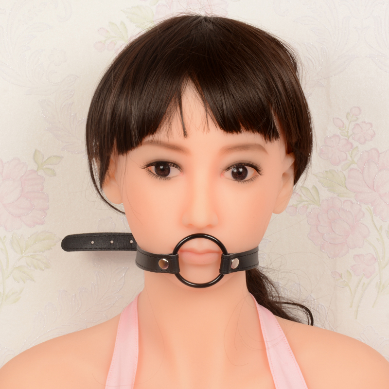 Sex Oral Mouth Gag BDSM Bondage Gear Leather silicone Blowjob Mouth Bite Penis Gag Female Slave Trainer Ball Gags Adult Sex Toys