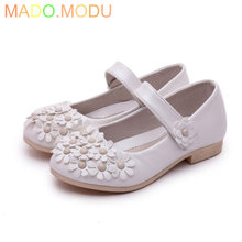 In stock 2016 New Summer Baby Princess Girls Sandals Flowers Shoes PU Leather Shoe Kids Party Shoes Size 26~36 Sandalia Infantil цены