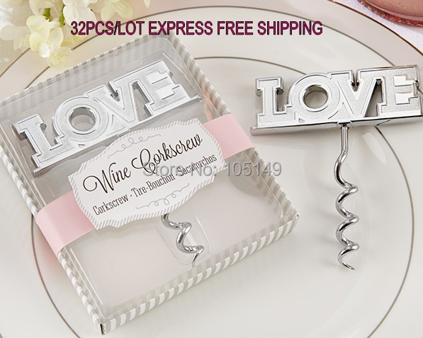 (30 Pieces/lot) Wedding door gift of Love Bottle Opener Wedding favors and gifts for Love wine opener unique wedding idea-in Party Favors from Home u0026 Garden ...  sc 1 st  AliExpress.com & 30 Pieces/lot) Wedding door gift of Love Bottle Opener Wedding ...