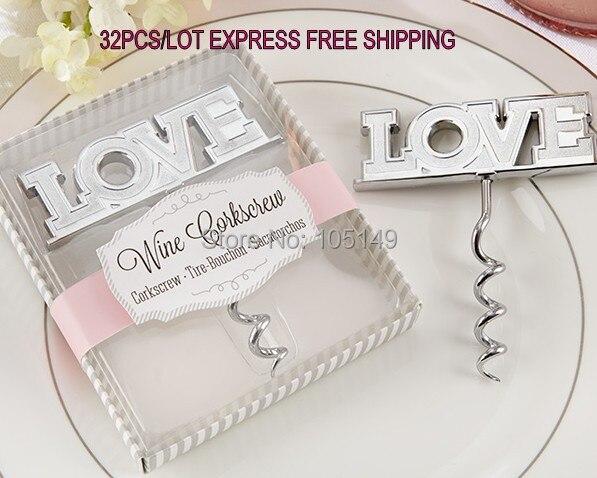 30 Pieces Lot Wedding Door Gift Of Love Bottle Opener Favors And