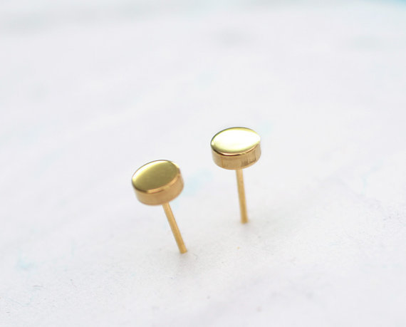earrings flat studs gold stud admiral product tag row round