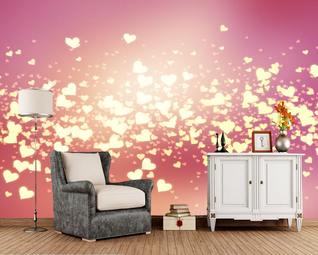 Valentine\'s Day Heart Holiday party wallpaper,living room tv sofa ...