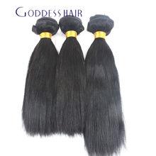 3 Bundles Mink Indian Virgin Straight Hair 6A 1b# Black Unprocessed Brazilian Straight Hair Goddess Human Hair Prodcuts