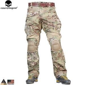 Image 5 - EMERSONGEAR G3 боевая униформа для страйкбола, рубашка, брюки с наколенниками, военный тактический Мультикам, охотничий камуфляж, EM9351