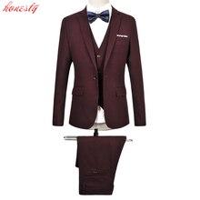 (Jackets+Pants+Vest ) Men Costume Suit Clothing Formal Slim Fit Casual Business Plus Size Wedding Party Blazer Homme SL-E521