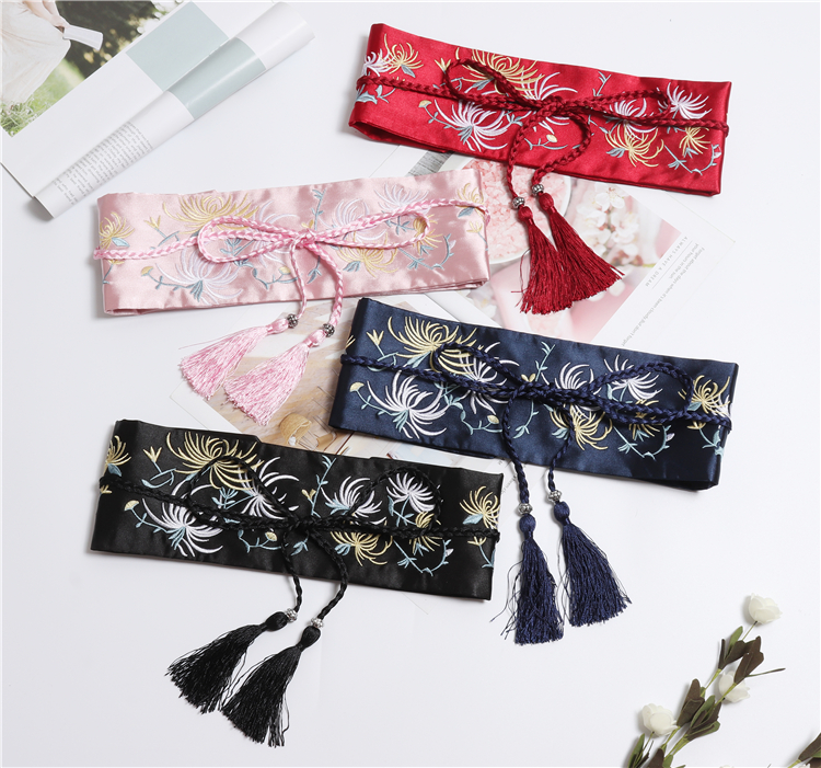 2019 Chinese Men Traditional Costume Female Kimono Belt Chinese Kimono Dance Costume For Woman Stage National For
