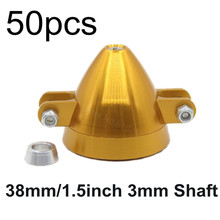 50pcs /Lot 38mm 1.5inch Alloy Folding Prop Spinner 3.0mm Shaft Adaptor 6mm RC Plane Parts