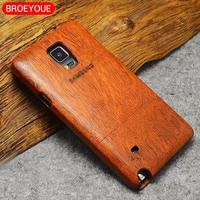 BROEYOUE Caisse En Bois Pour Samsung Galaxy S5 S6 S7 S8 Bord Plus Note 3 4 5 8 Téléphone Cas Couverture 100% Bambou Naturel Sculpture Fundas