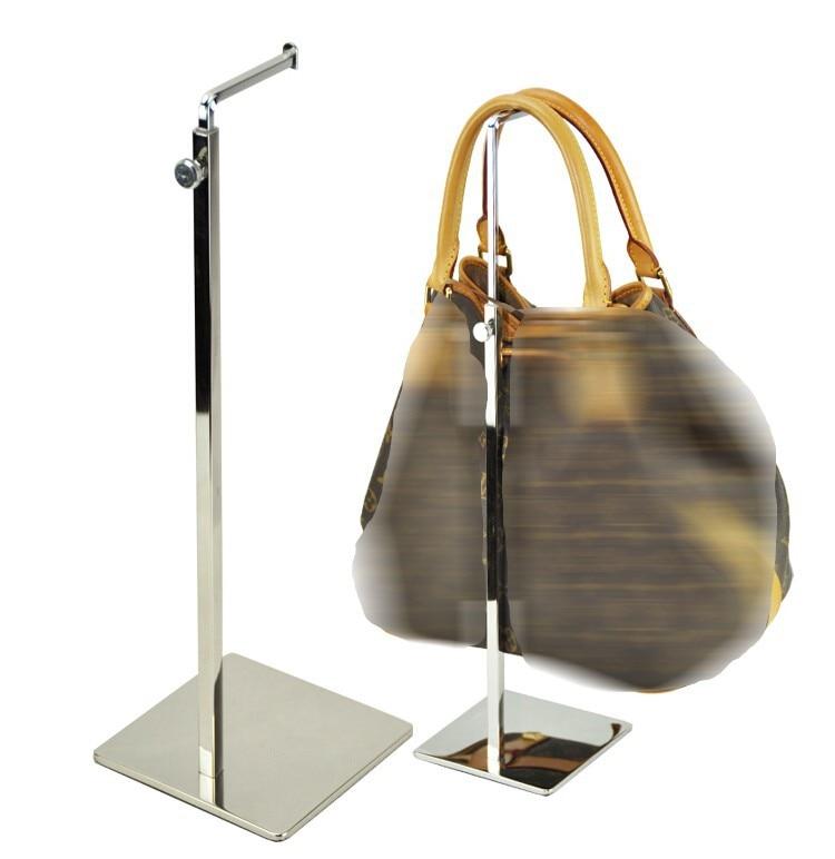 Ρυθμιζόμενη τσάντα γυναικών τσάντα επίδειξης ράφι βάσης καθρέφτη μεταλλική τσάντα βάσης ράφι κάτοχος ράφι