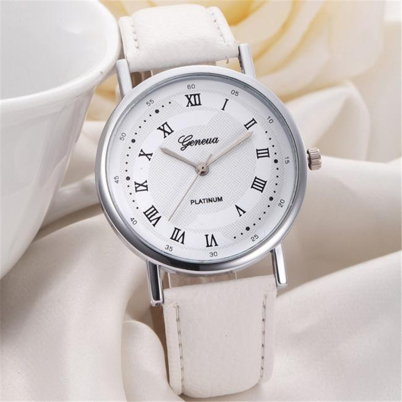 Irisshine Unisex Watches women Leisure Dial Leather Band Analog Quartz Wrist Watch lady girl #00 new fashion women retro digital dial leather band quartz analog wrist watch watches wholesale 7055