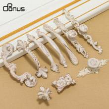 American European Ivory White Kitchen Cabinet Handles Modern Rural Drawer Door Handle Single Hole
