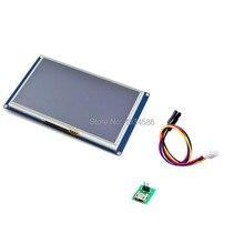 """Nextion 7.0 """"7 بوصة المسلسل USART HMI TFT وحدة عرض إل سي دي 800*480 لوحة اللمس الذكي 5 فولت 510mA لاردوينو التوت بي"""