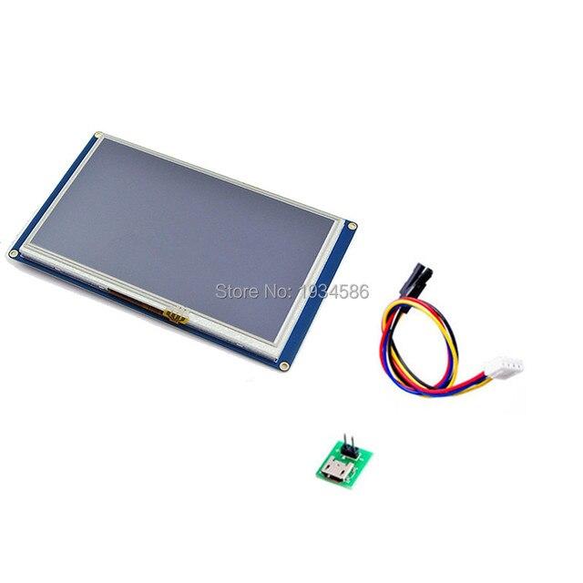 """Nextion 7.0 """"7 インチシリアル USART HMI TFT 液晶ディスプレイモジュール 800*480 インテリジェントタッチスイッチパネル 5 V 510mA Arduino のラズベリーパイ"""