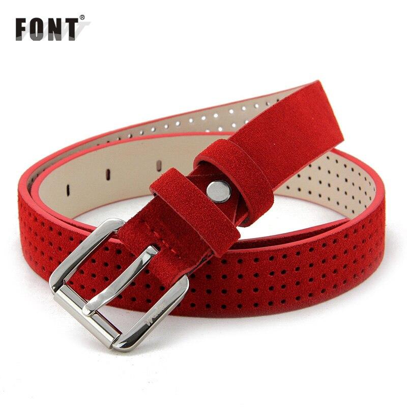 MS ceinture pour les femmes en cuir ceinture fine de mode han édition ceinture Joker décoration MS contracté rouge ceinture