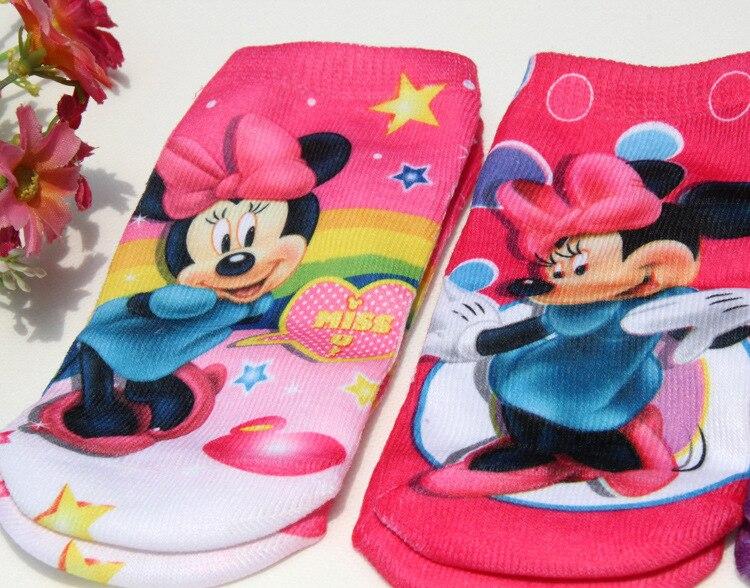 6pairs Children girl sock cotton children socks girl kid cartoon beautiful minnie socks 1-8T 002 TP01