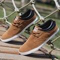 Zapatos Ocasionales de los hombres 2016 Nueva Moda Transpirable Zapatos de Lona de Verano Plana de Los Hombres Entrenadores Zapatos Amarillo