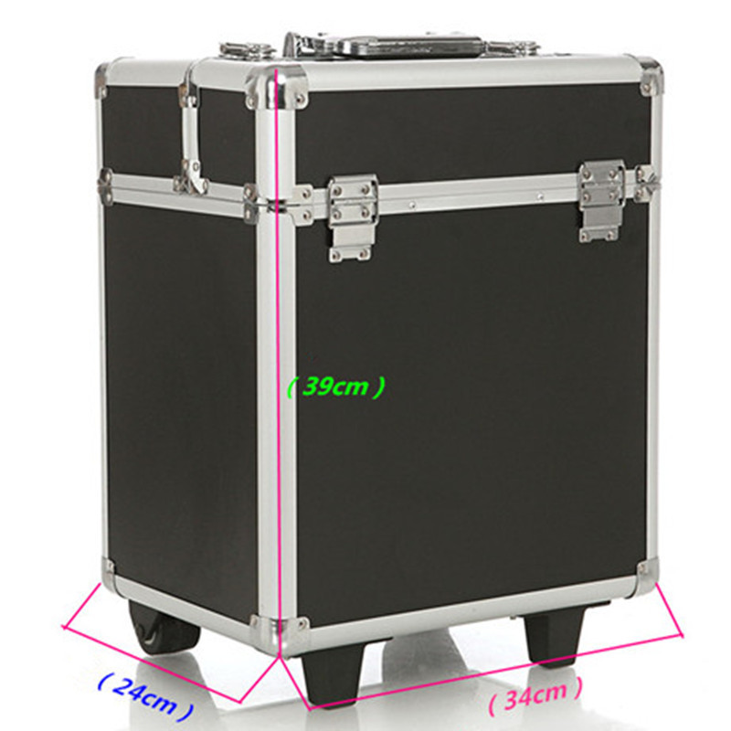 KUNDUI High Quality large suitcase UNEQUAL Travel Trolley Case Cosmetic Case Makeup Hair and Beauty munsu Toolbox Luggage Bags wholesale high quality travel luggage cosmetic box male and female cosmetic bags on universal wheels multi purpose cosmetic case