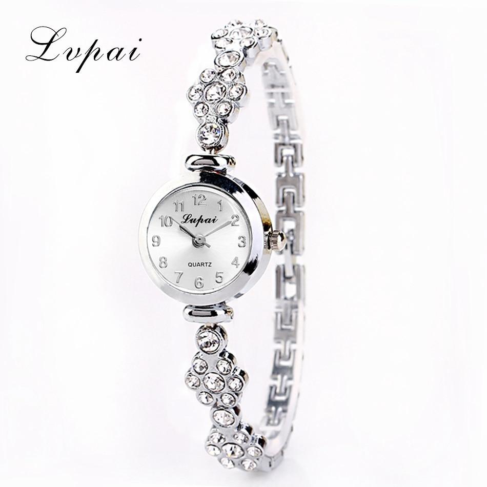 Lvpai bracelet watch for women ladies fashion quartz watch female imitation diamond wristwatch for Ladies bangle watch