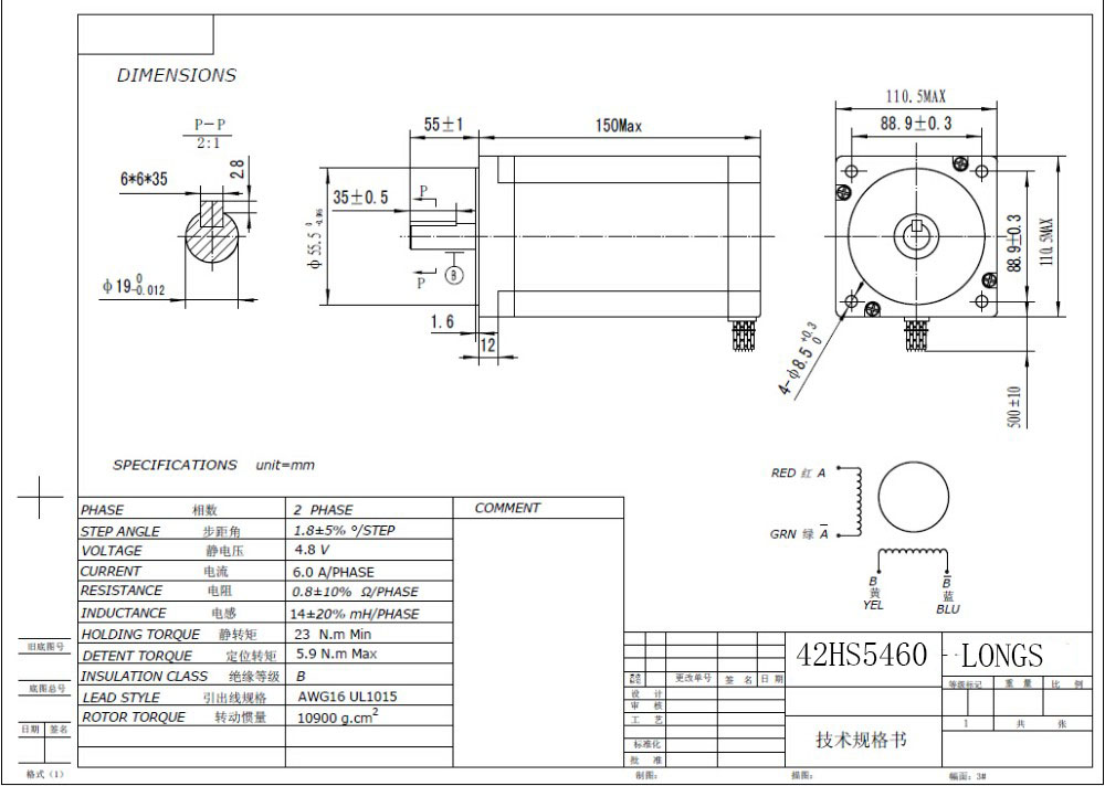 ЕС [3~ 8 дней] шаговый двигатель Nema42 3256ozin 42HS5460 драйвер DM2722A 220 в 300 микро измельченный мельница Cut LONGS двигатель