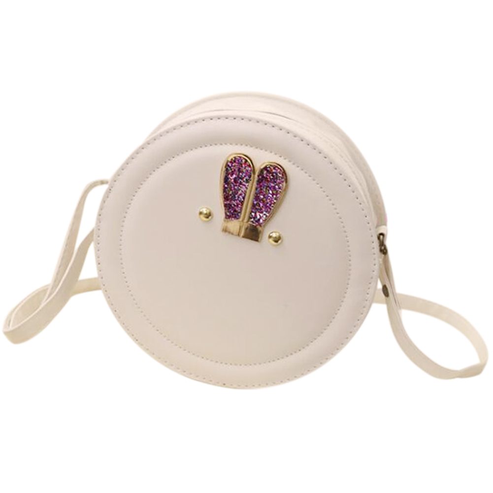 Women Messenger Bags Small Mini Crossbody Bag Circular Bag For Girls Cute Handbag (White) mini women crossbody bags small women