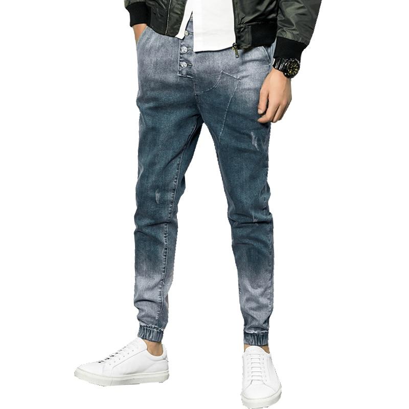 2017 Весна Лидер продаж узкие Для мужчин Джинсы для женщин Повседневное Slin Fit пят джинсовые Для мужчин с Jogger Джинсы для женщин Брюки для девочек M-5XL cyg204