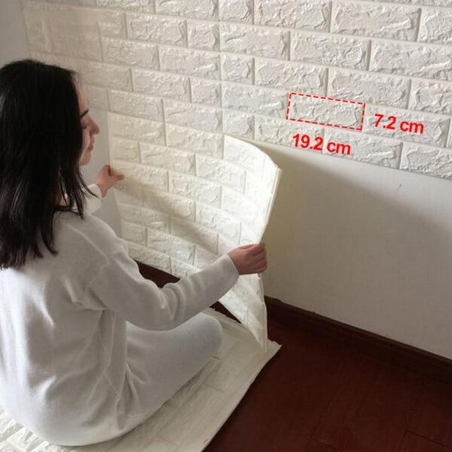 3D Wandaufkleber Pe schaum DIY Wanddekoration Ziegel Wand Wohnzimmer ...
