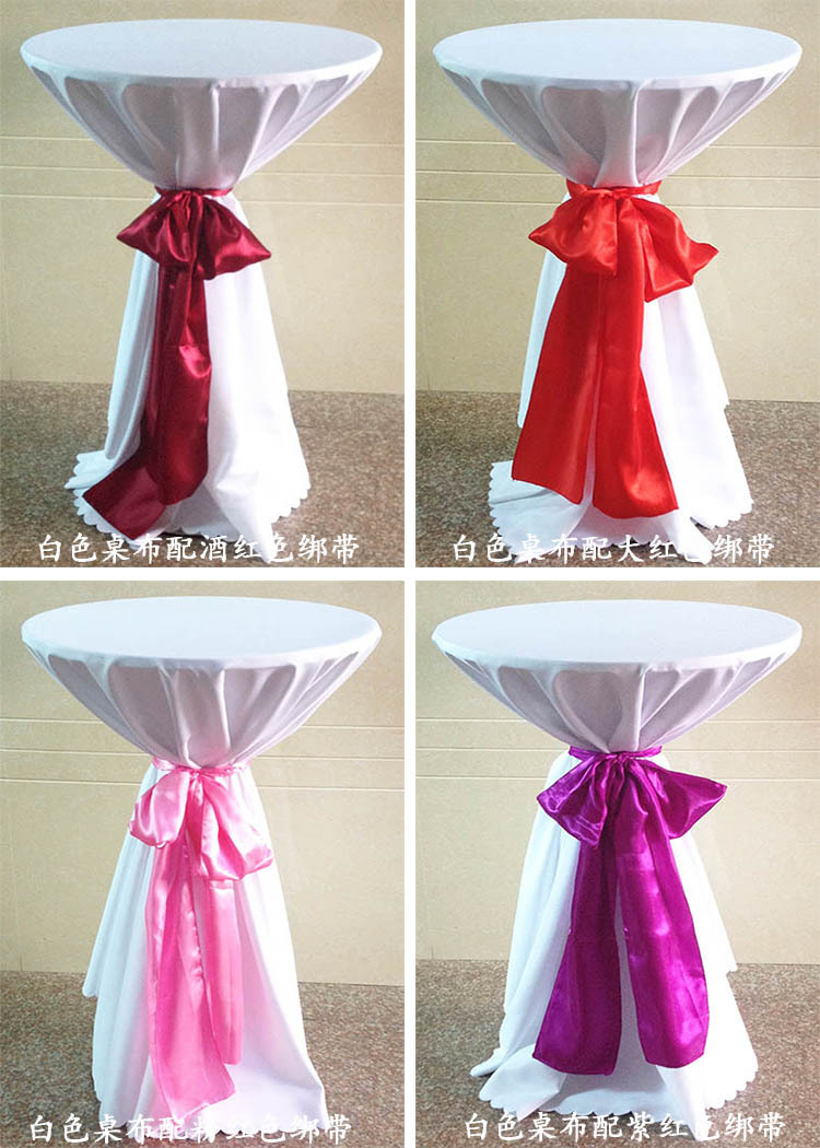 Hotel Tablecloth Wedding Cocktail Table Cloth Table High Coffee Table Cloth Stage Desk Set Table