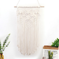Fashion Bohemian Tapestry Cotton Rope Hand woven Flower Wall Art Indoor And Outdoor Home Decoration Accessories Wedding Gift