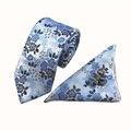 Mantieqingway Brand Classic Mens Pocket Square Wedding Tie Corbatas Gemelos Conjunto Pañuelo Corbata Conjuntos Moda Floral Corbatas para Los Hombres