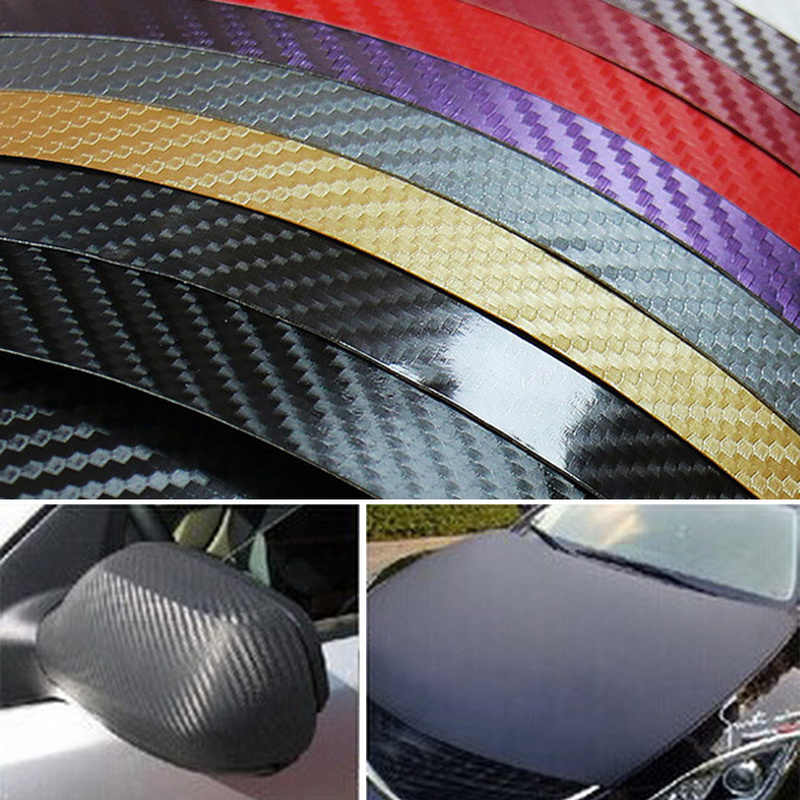 127cm*10cm Carbon Fiber Vinyl Film Car Stickers Waterproof Wrap Car Vehicle  Exterior Detailing Accessories Auto Part Car Styling