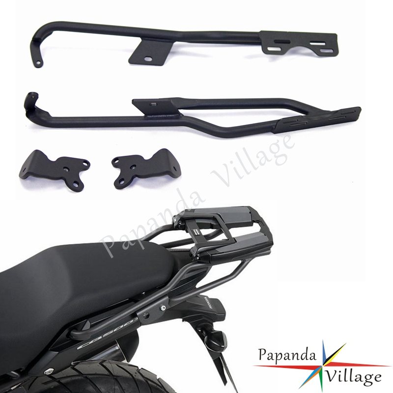 Papanda Motorcycle Black Steel Rear Luggage Rack Carrier Bracket Holder Support Shelf For Honda CB500X CB500XA 2013 2016 in Covers Ornamental Mouldings from Automobiles Motorcycles