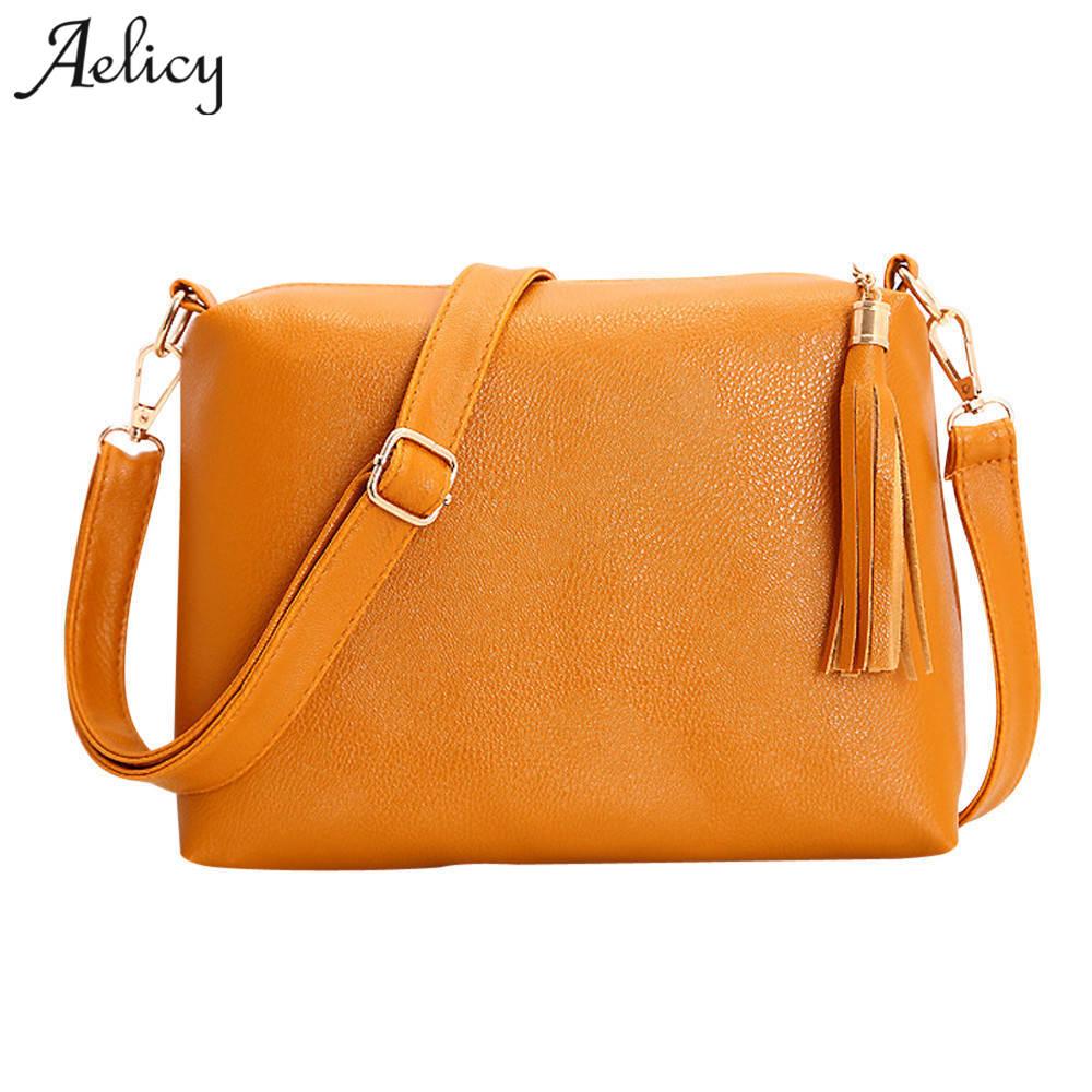 Aelicy luxury Tassel Messenger Bag Women Handbag Cross body Shoulder Bag Vintage Luxury Handbags Women Bags Designer Bolsa
