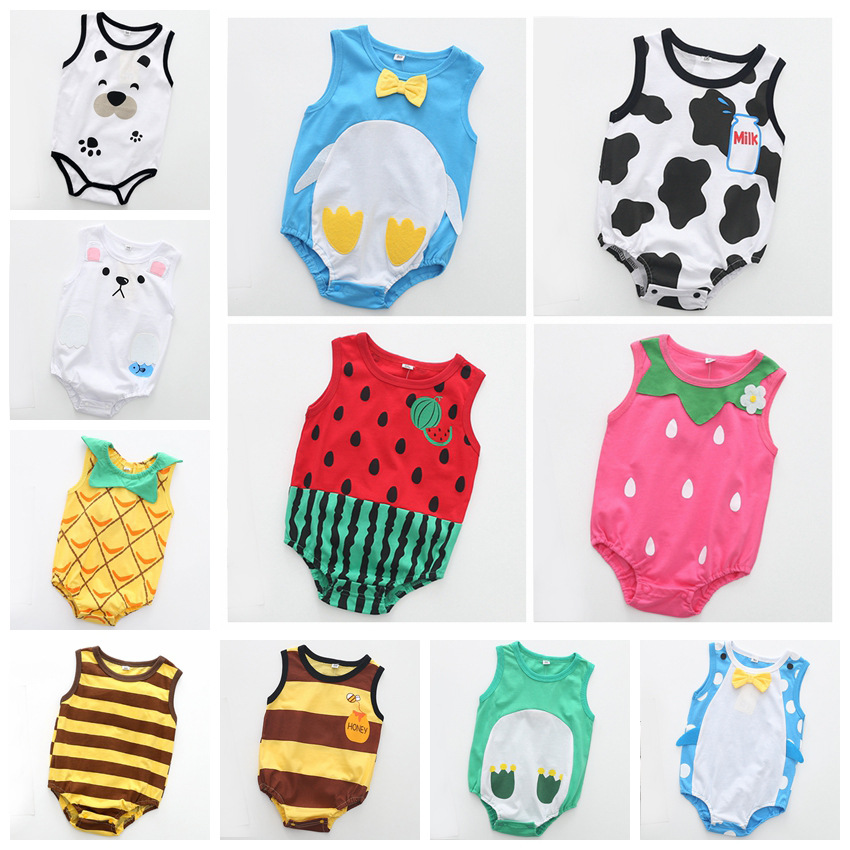 Baby Girl Summer Clothes Body For Newborn Babys Funny Baby Rompers Animal Fruit Printed Body Cut Baby Wear Body Infantil Cotton