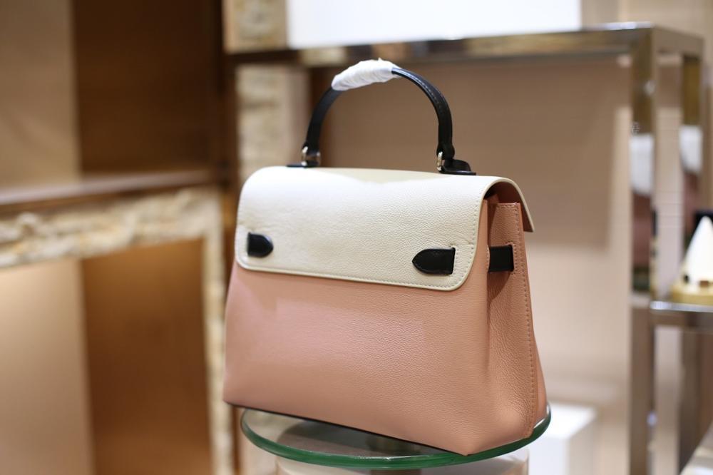 De beste kwaliteit dames luxe mode schoudertas kwaliteit klassieke 100% leer merk beroemde dames Messenger bag gratis verzending-in Schoudertassen van Bagage & Tassen op  Groep 1